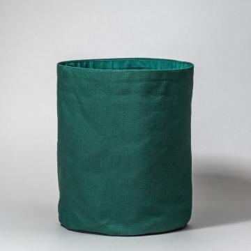 panier rangement tissus vert