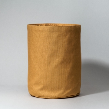 Mustard cotton basket