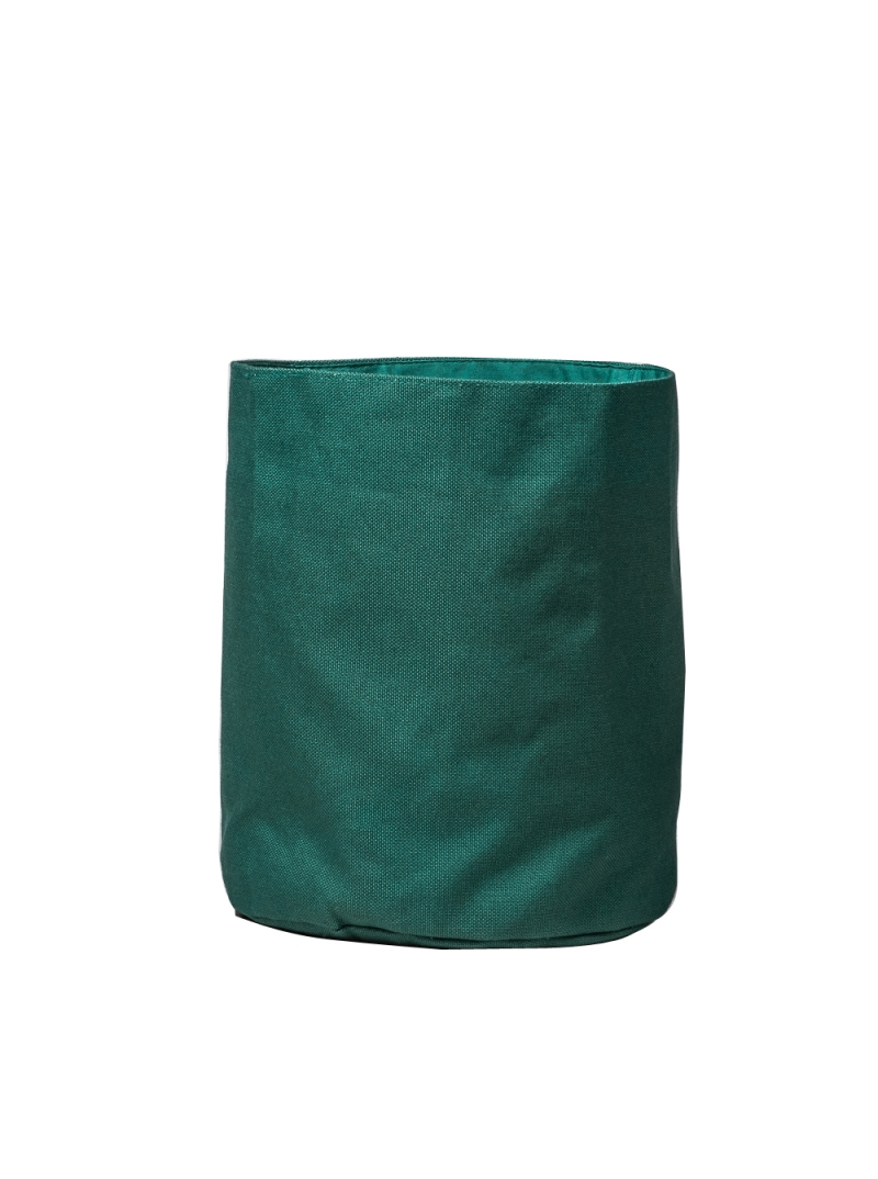 green cotton backet