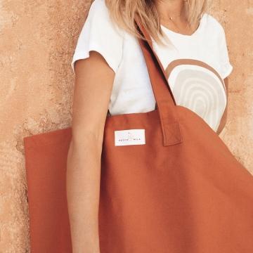 Grand sac shopping en coton