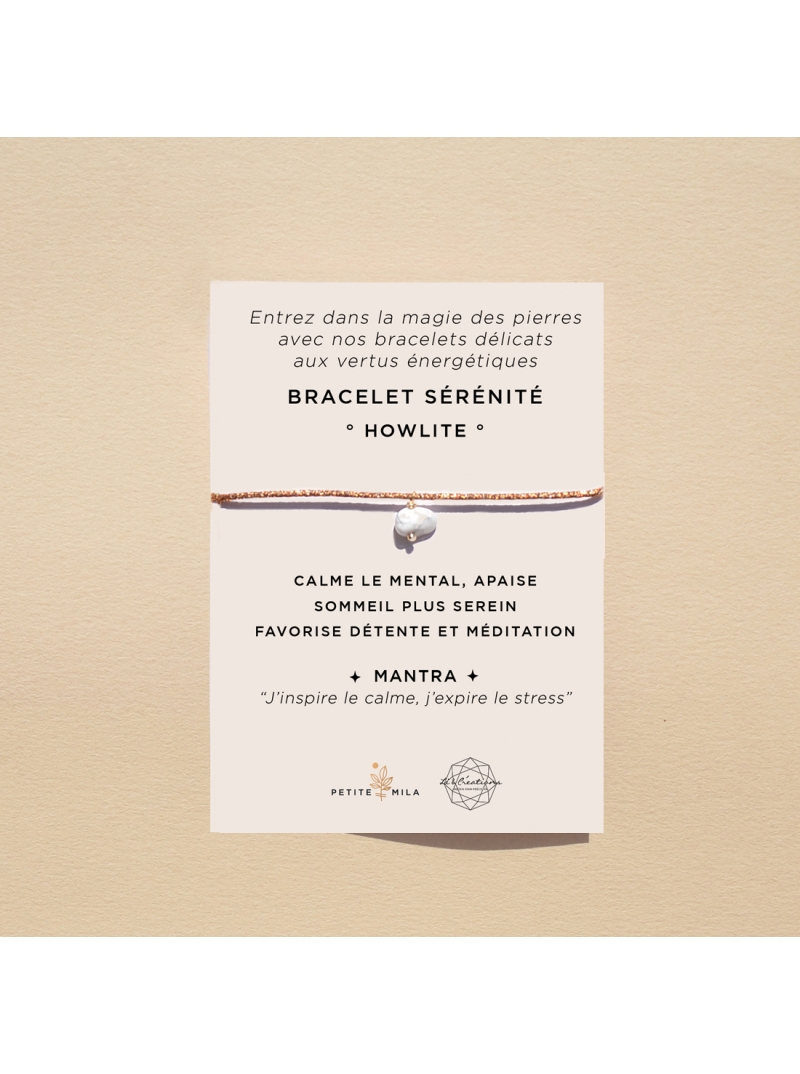 Bracelet howlite anti stress
