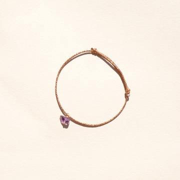 Bracelet pierre améthyste