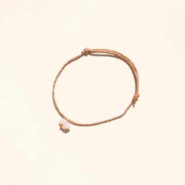 Bracelet  amour quartz rose