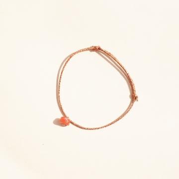 bracelet pierre de naissance cornaline