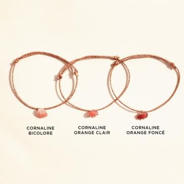 bracelet réglable cornaline